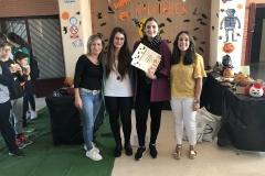 Concurso de Halloween 2019-2020. Entrega de premios. Las profesoras del departamento de Inglés